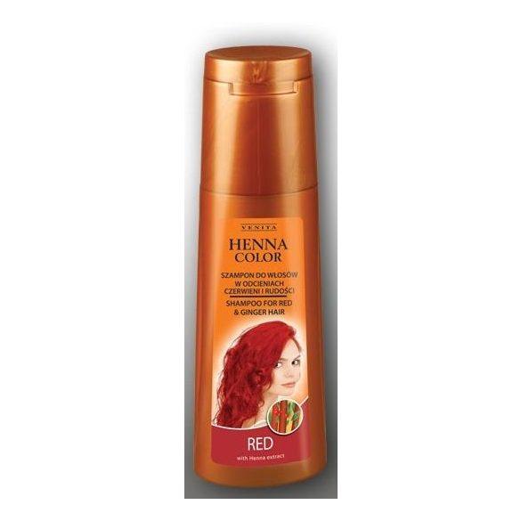 Henna Color hajsampon gyógynövényes piros és vörös hajra 250ml