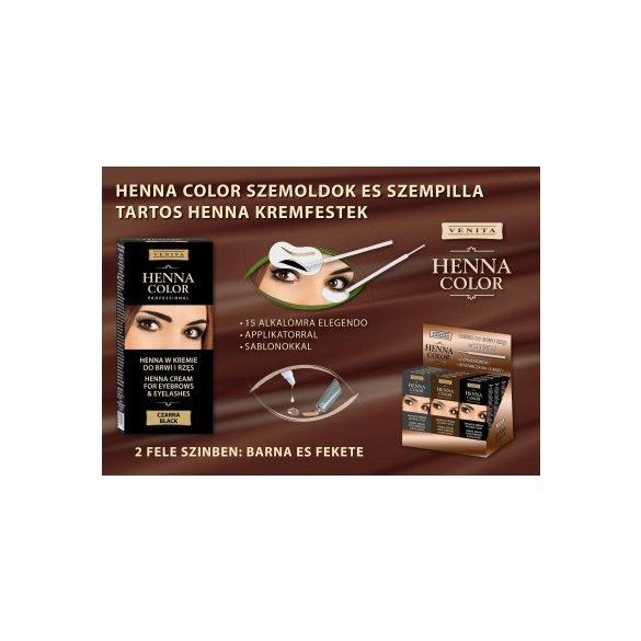 Henna Color szemöldök és szempilla krémfesték barna 15g