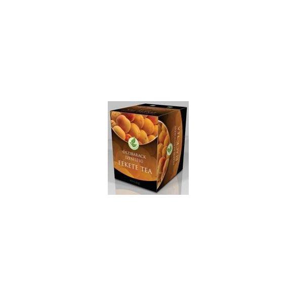 Herbária tea fekete őszibarack ízű filteres 10db