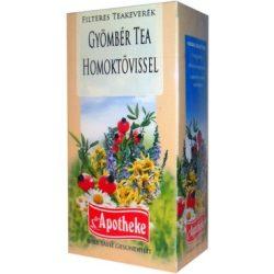 Apotheke tea gyömbér homoktövis filteres 20db