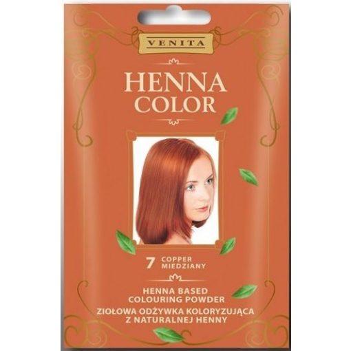 Henna Color hajszínezőpor 7 rézvörös 25g