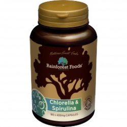 Rainforest Foods Bio Chlorella és Spirulina tabletta 500 mg 300db