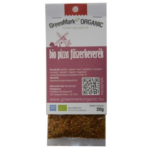 GreenMark Bio pizza fűszerkeverék 20 g