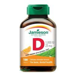 Jamieson d3-vitamin 1000iu narancs ízű szopogató tabletta 100db