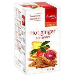 Apotheke tea forró gyömbér-koriander filteres 20db