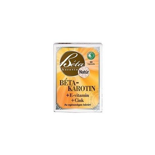 Dr. Chen Béta-Karotin+E-Vitamin+Cink Lágyzselatin Kapszula 60db