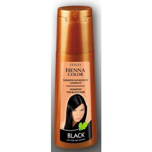 Henna Color hajsampon gyógynövényes fekete hajra 250ml