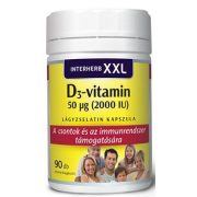 Interherb xxl d3-vitamin 2000iu kapszula 90db