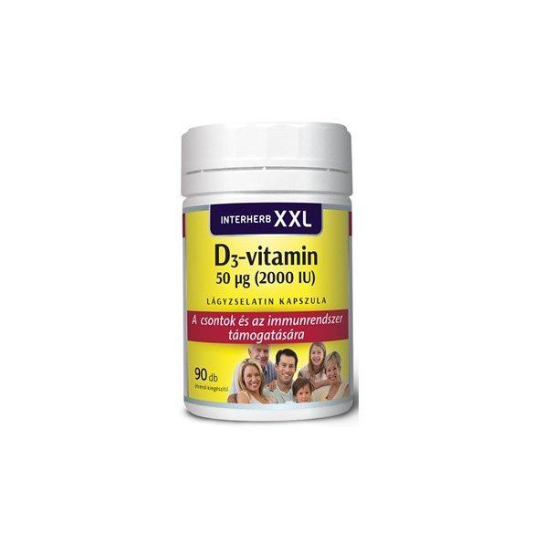 Interherb xxl d3-vitamin 2000iu kapszula 90db