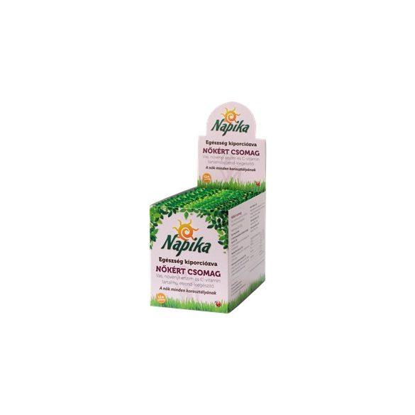 Napika nőkért csomag vas+növényi enzim+c-vitamin 12db