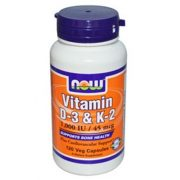 Now  vitamin d-3 és k-2 kapszula 120 db