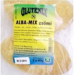 Gluténmentes glutenix alba mix zsömi 2x80g