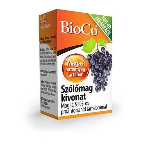 Bioco szőlőmag kivonat tabletta Megapack 100db