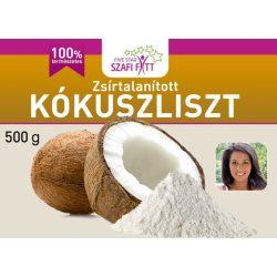 Szafi fitt zsírtalanított finomszemcsés kókuszliszt 1000g