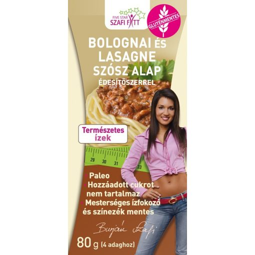Szafi fitt paleo bolognai lasagne alap 80g