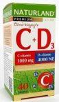 Naturland prémium C 1000mg+D 4000ne vitamin tabletta 40db