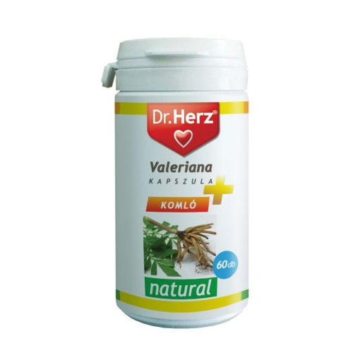 Dr.Herz Valeriana + komló + golgotavirág kapszula 60 db