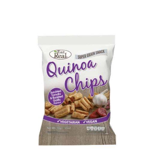 Eat Real Quinoa chips- paradicsomos, sült fokhagymás