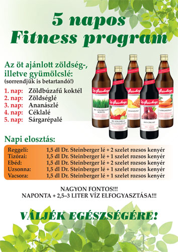 Dr. Steinberger 5 napos fittness csomag