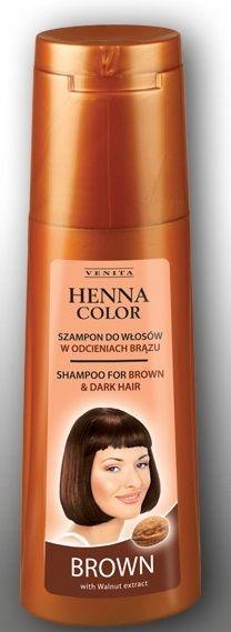Henna Color hajsampon gyógynövényes barna és vörös hajra 250ml